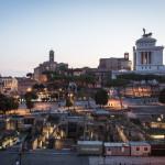 Vista sul Foro Romano dalla terrazza
