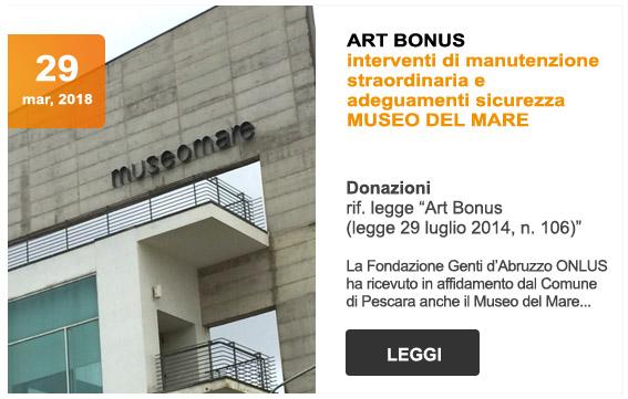 Art Bonus Museo del Mare