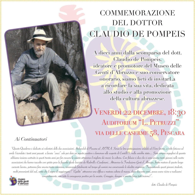 Commemorazione Claudio De Pompeis